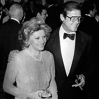 Roger Moore and wife 1980s  Photo By John Barrett/PHOTOlink