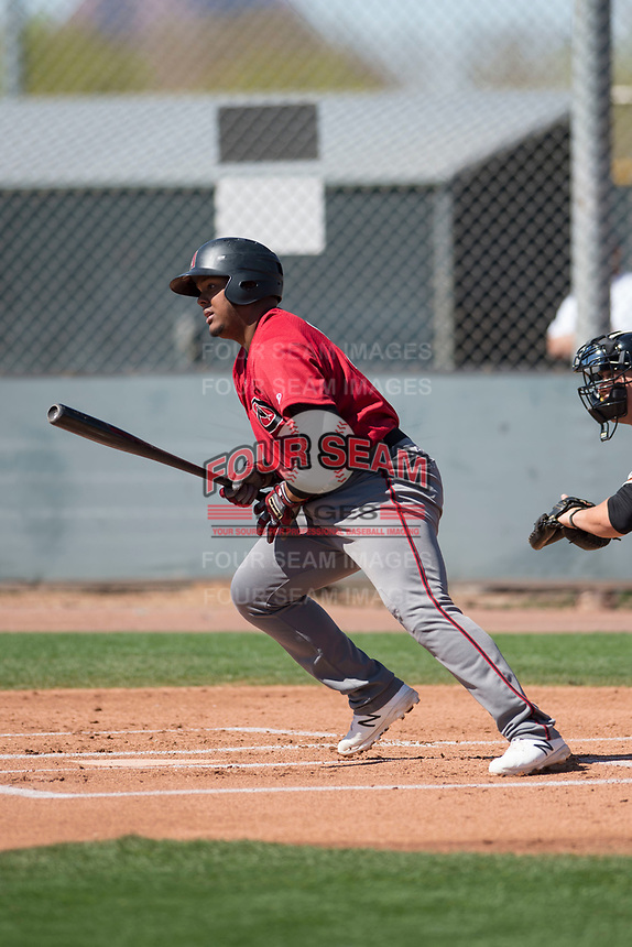 Arizona Diamondbacks third baseman Eudy Ramos (22) during a Minor League Spring Training game against the San Francisco Giants at Salt River Fields at Talking Stick on March 28, 2018 in Scottsdale, Arizona. (Zachary Lucy/Four Seam Images)