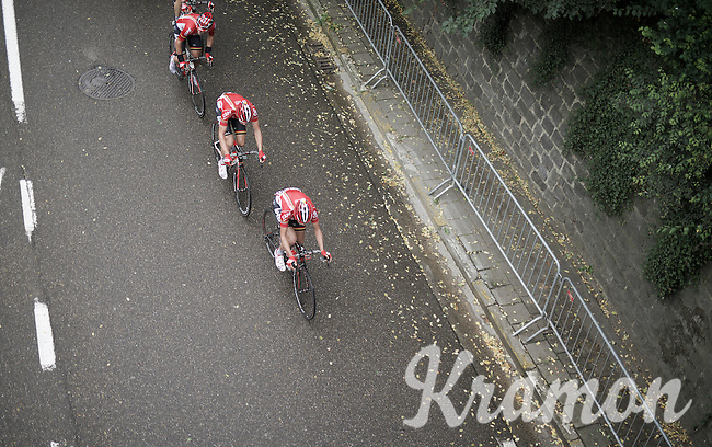 Team Lotto-Soudal from above<br /> <br /> 50th GP Jef Scherens 2016