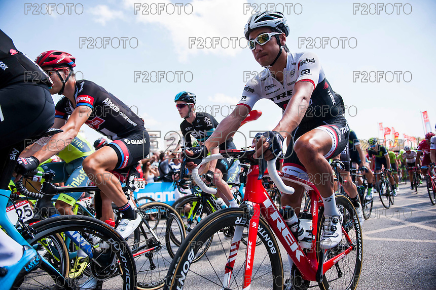 Castellon, SPAIN - SEPTEMBER 7: Start race during LA Vuelta 2016 on September 7, 2016 in Castellon, Spain