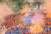 July 4th 2021;  Red Bull Ring, Spielberg, Austria; F1 Grand Prix of Austria, race day;   Fans of Varstappen let off flares at the F1 Grand Prix of Austria at Red Bull Ring