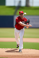 GCL Nationals pitcher Jeremy Hellickson (14), on rehab assignment, during a Gulf Coast League game against the GCL Mets on August 12, 2019 at FITTEAM Ballpark of the Palm Beaches in Palm Beach, Florida.  GCL Nationals defeated the GCL Mets 7-3.  (Mike Janes/Four Seam Images)
