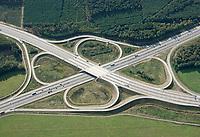 Autobahnkreuz Schwerin: EUROPA, DEUTSCHLAND, MECKLENBURG- VORPOMMERN,  (EUROPE, GERMANY), 07.10.2019:  Autobahnkreuz Schwerin