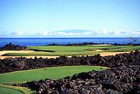 Hole No.17 at Hualalai golf course on the Big island of Hawaii