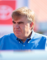 Oct 18, 2019; Ennis, TX, USA; Toyota Racing official Ed Laukes during NHRA qualifying for the Fall Nationals at the Texas Motorplex. Mandatory Credit: Mark J. Rebilas-USA TODAY Sports