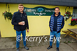 The stars of the League of their Own on a film shoot in West Kerry on Tuesday, l to r: Freddie Flintoff and Jamie Redknapp
