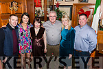Dan Tim O'Sullivan with his family at The Red Fox Inn, Glenbeigh to celebrate being honoured with  the Freedom of The City of London