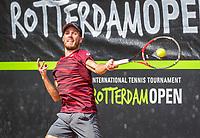 Rotterdam, Netherlands, August 22, 2017, Rotterdam Open, Axel Michon (FRA)<br /> Photo: Tennisimages/Henk Koster