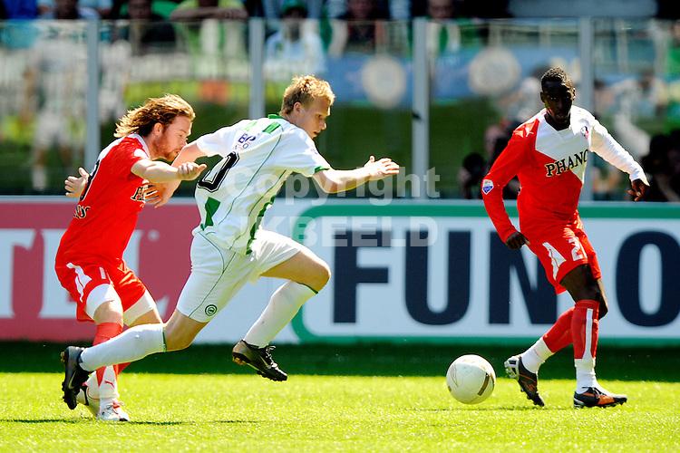 voetbal fc groningen - fc utrecht play off eredivisie seizoen 2007-2008 04-05-2008  .stafan nijland.fotograaf Jan Kanning..