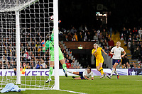 Mary Earps of England Women makes a save during the Women's international friendly match between England Women and Australia at Craven Cottage, London, England on 9 October 2018. Photo by Carlton Myrie / PRiME Media Images.