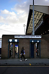 Stockport County 2 Rushden & Diamonds 2, 22/01/2006. Edgeley Park, League Two. Stockport County versus Rushden & Diamonds, Coca-Cola Football League Two at Edgeley Park, Stockport. With the teams occupying the bottom two places in the Football league, points were vital in home club's Jim Gannon's first game in charge as manager. The match ended 2-2. Picture shows a fan heading towards the home end.<br />  Photo by Colin McPherson.