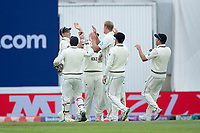 High fives from New Zealand following the dismissal of Rohit Sharma during India vs New Zealand, ICC World Test Championship Final Cricket at The Hampshire Bowl on 19th June 2021