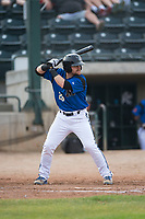 Missoula Osprey first baseman Joe Robbins (26) at bat during a Pioneer League game against the Orem Owlz at Ogren Park Allegiance Field on August 19, 2018 in Missoula, Montana. The Missoula Osprey defeated the Orem Owlz by a score of 8-0. (Zachary Lucy/Four Seam Images)