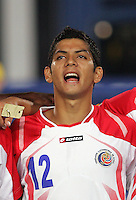 Costa Rica's Cristian Gamboa (12) stands on the field before the match against Egypt during the FIFA Under 20 World Cup Round of 16 match at the Cairo International Stadium on October 06, 2009 in Cairo, Egypt.