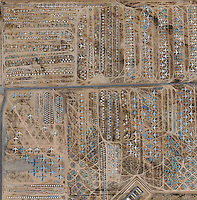 aerial photo map of the military aircraft boneyard Davis Monthan Air Force Base, Tuscon, Arizona