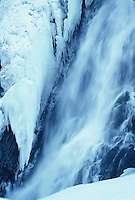 Winter water fall seen in Alaska