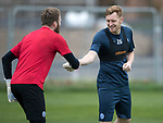 St Johnstone Training…..03.11.17<br />Liam Craig and Zander Clark pictured during training this morning at McDiarmid Park ahead of tomorrows game against Celtic<br />Picture by Graeme Hart.<br />Copyright Perthshire Picture Agency<br />Tel: 01738 623350  Mobile: 07990 594431