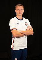 Djordie Mihailovic during a studio shoot for the U-23 USMNT Olympic Qualifying Team.