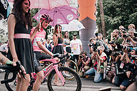 Maglia Rosa / overall leader Chris Froome (GBR/SKY) on the last start line-up<br /> <br /> stage 21: Roma - Roma (115km)<br /> 101th Giro d'Italia 2018