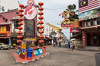 Entrance to Jonkers Walk, Jalan Hang Jebat, Melaka, Malaysia.
