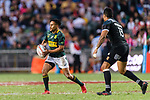 Selvyn Davids of South Africa (L) during the HSBC Hong Kong Sevens 2018 Bronze Medal Final match between South Africa and New Zealand on 08 April 2018 in Hong Kong, Hong Kong. Photo by Marcio Rodrigo Machado / Power Sport Images