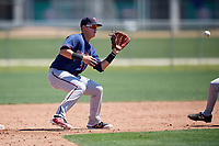 Minnesota Twins Jose Miranda (24) during a Minor League Spring Training game against the Tampa Bay Rays on March 17, 2018 at CenturyLink Sports Complex in Fort Myers, Florida.  (Mike Janes/Four Seam Images)