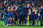 BARCELONA (16/05/2010).- Barcelona players celebrate Spanish League Championship at Camp Nou Stadium...Photo. Gregorio / ALFAQUI
