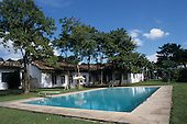 Sao Paulo State, Brazil. A wealthy country home (chacara) with swimming pool.