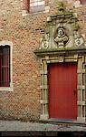 Stedelijk Conservatorium Organ Hall, Bust of Marc Houterman, Geerwijnstraat, Bruges, Brugge, Belgium