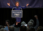 RALEIGH, NC - OCTOBER 31:  North Carolina's Democratic incumbent for U.S. Senate Kay Hagan addresses the crowd during a campaign event at Broughton High School in Raleigh, NC, on Friday, October 31, 2014.  (Photo by Ted Richardson/For The Washington Post)