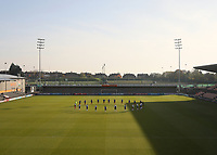 The teams during a moment of silence during Tottenham Hotspur Women vs Reading FC Women, Barclays FA Women's Super League Football at the Hive Stadium on 7th November 2020
