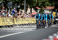 Team Movistar during the 1st km of Stage 3 (Team Time Trial): Cholet > Cholet (35km)<br /> <br /> 105th Tour de France 2018<br /> ©kramon