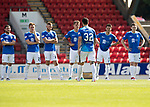 St Johnstone v East Fife…14.07.18…  McDiarmid Park    League Cup<br />Tony Watt waks back to his team mateas after scoring during the penalty shootout<br />Picture by Graeme Hart. <br />Copyright Perthshire Picture Agency<br />Tel: 01738 623350  Mobile: 07990 594431