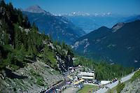 grupetto coming up the Alp<br /> <br /> stage 17: Bern (SUI) - Finhaut-Emosson (SUI) 184.5km<br /> 103rd Tour de France 2016