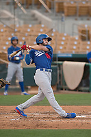 Los Angeles Dodgers designated hitter Zach Reks (86) during a Minor League Spring Training game against the Seattle Mariners at Camelback Ranch on March 28, 2018 in Glendale, Arizona. (Zachary Lucy/Four Seam Images)