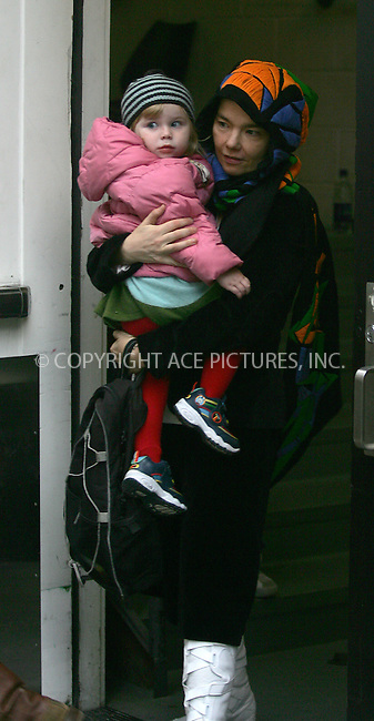 WWW.ACEPIXS.COM . . . . . ....NEW YORK,  OCTOBER 21, 2004....Bjork cancelled an appearance on The Late Show with David Letterman for another pressing engagement - shopping with her daughter Isadora Barney at The Apple Store in SoHo, NYC.....Please byline: BRIAN FLANNERY - ACE PICTURES.. . . . . . ..Ace Pictures, Inc:  ..Alecsey Boldeskul (646) 267-6913 ..Philip Vaughan (646) 769-0430..e-mail: info@acepixs.com..web: http://www.acepixs.com