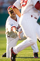 South Carolina 1B Christian Walker in Game 10 of the NCAA Division One Men's College World Series on June 24th, 2010 at Johnny Rosenblatt Stadium in Omaha, Nebraska.  (Photo by Andrew Woolley / Four Seam Images)