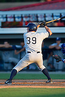 Patrick Grady (39) of the Princeton Rays at bat against the Burlington Royals at Burlington Athletic Park on July 11, 2014 in Burlington, North Carolina.  The Rays defeated the Royals 5-3.  (Brian Westerholt/Four Seam Images)