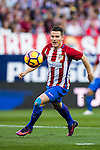 Kevin Gameiro of Club Atletico de Madrid in action during their La Liga match between Club Atletico de Madrid and Malaga CF at the Estadio Vicente Calderón on 29 October 2016 in Madrid, Spain. Photo by Diego Gonzalez Souto / Power Sport Images