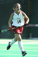6 November 2007: Stanford Cardinal Heather Alcorn during Stanford's 1-0 win against the Lock Haven Lady Eagles in an NCAA play-in game to advance to the NCAA tournament at the Varsity Field Hockey Turf in Stanford, CA.