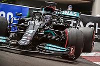 22nd May 2021; Principality of Monaco; F1 Grand Prix of Monaco, qualifying sessions;  44 HAMILTON Lewis (gbr), Mercedes AMG F1 GP W12 E Performance