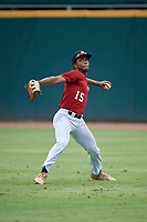 Christian Smith (15) of Grady High School in Atlanta, GA during the Perfect Game National Showcase at Hoover Metropolitan Stadium on June 17, 2020 in Hoover, Alabama. (Mike Janes/Four Seam Images)