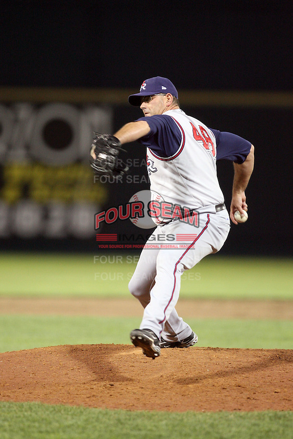 June 2, 2009: Brendan Donnelly (48) of the Round Rock Express at Rosenblatt Stadium in Omaha, NE.  Photo by: Chris Proctor/Four Seam Images