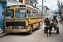 27/07/18<br /> <br /> Horse and cart passes old school bus, Trinidad, Cuba.<br /> <br /> All Rights Reserved, F Stop Press Ltd. (0)1335 344240 +44 (0)7765 242650  www.fstoppress.com rod@fstoppress.com