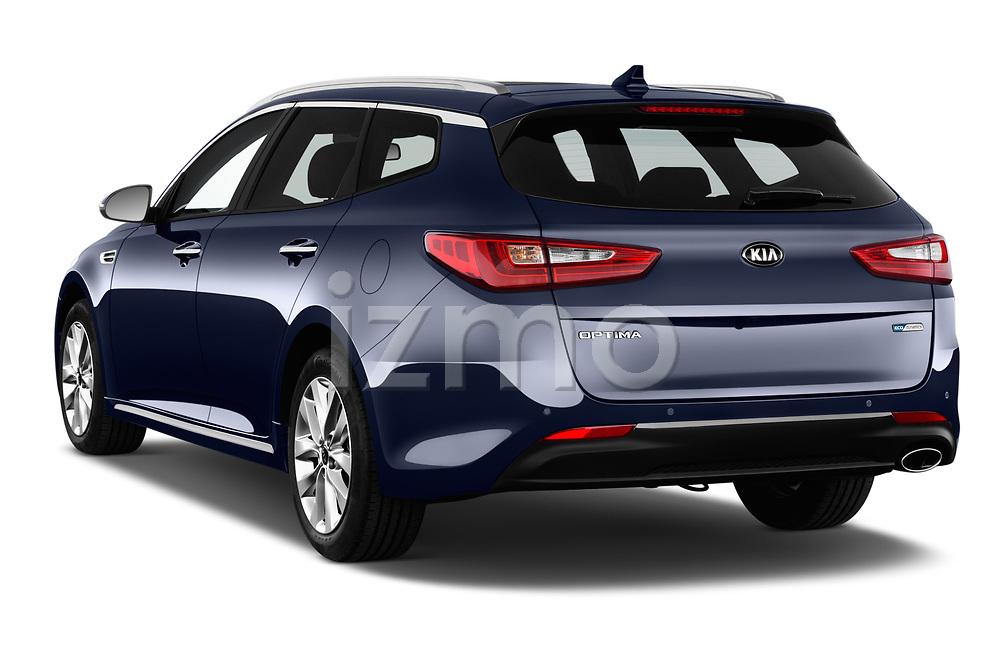 Car pictures of rear three quarter view of 2017 KIA Optima-Sportswagon Fusion 5 Door Wagon Angular Rear