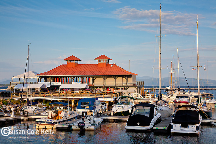 The Burlington Community Boathouse is the centerpiece of the waterfront on Lake Champlain in Burlington, VT, USA