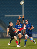 8th January 2021; RDS Arena, Dublin, Leinster, Ireland; Guinness Pro 14 Rugby, Leinster versus Ulster; John Cooney of Ulster kicks the ball clear