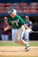 Farmingdale Rams right fielder Brandon Ernest (6) at bat during a game against the Union Dutchmen on February 21, 2016 at Chain of Lakes Stadium in Winter Haven, Florida.  Farmingdale defeated Union 17-5.  (Mike Janes/Four Seam Images)
