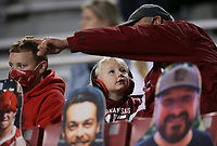 Arkansas fans watch the game, Saturday, November 7, 2020 during a football game at Donald W. Reynolds Razorback Stadium in Fayetteville. Check out nwaonline.com/201108Daily/ for today's photo gallery. <br /> (NWA Democrat-Gazette/Charlie Kaijo)