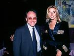 CARLO VERDONE CON GIADA DESIDERI<br /> GILDA CLUB ROMA 1998